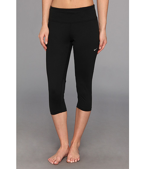 Nike - Dri-Fit Epic Run Capri (Black/Black/Matte Silver) Women