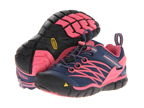 Keen Kids - Chandler CNX (Toddler/Little Kid) (Ensign Blue/Camellia Rose) Girls Shoes