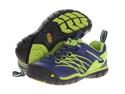 Keen Kids - Chandler CNX (Toddler/Little Kid) (Blue Depths/Lime Green) Boys Shoes