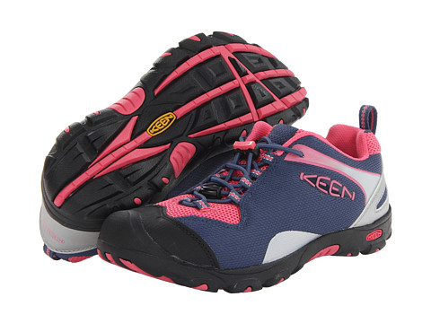 Keen Kids - Jamison (Little Kid/Big Kid) (Ensign Blue/Camellia Rose) Girls Shoes