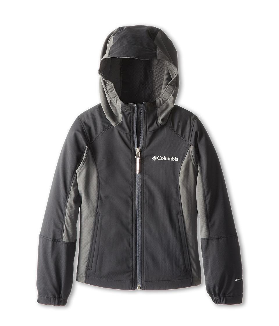 Columbia Kids SplashFlashtm Hooded Softshell Jacket (Little Kids/Big Kids) (Black/Grill 2) Boy