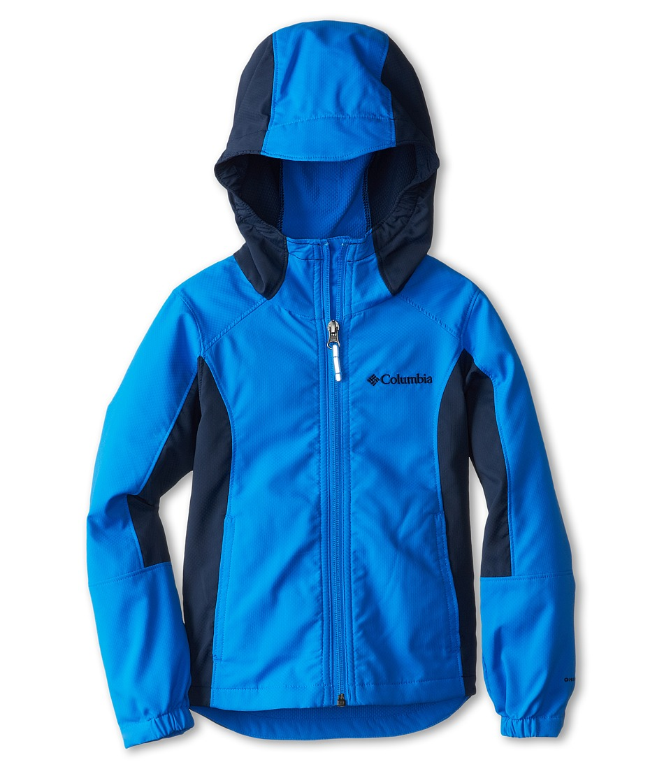 Columbia Kids - SplashFlash Hooded Softshell Jacket (Little Kids/Big Kids) (Hyper Blue/Collegiate Navy) Boy's Coat