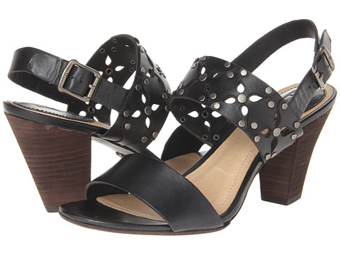 Frye - Skye Overlay Cut Stud (Black Soft Full Grain) Women's Dress Sandals