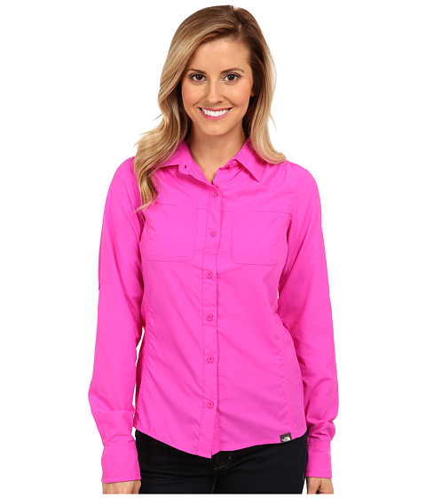 The North Face - L/S Cool Horizon Woven (Azalea Pink) Women's Long Sleeve Button Up