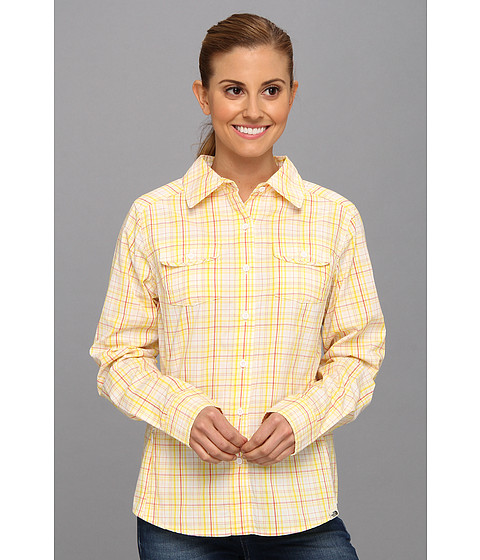 The North Face - L/S Paramount Woven (Lightning Yellow Plaid) Women