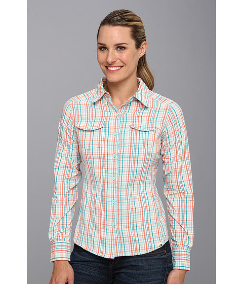 The North Face - L/S Paramount Woven (Fire Brick Red Plaid) Women