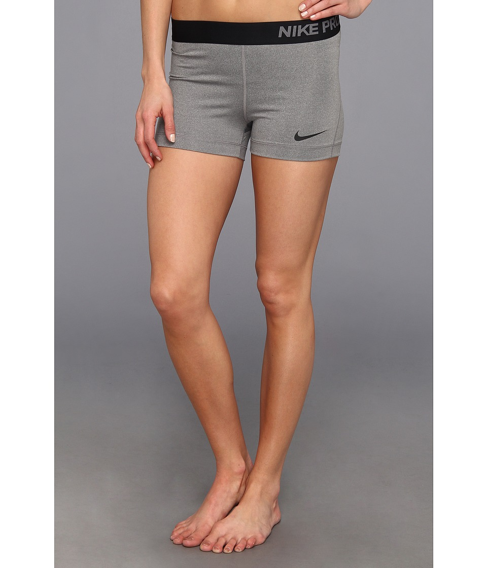 Nike - Pro Three-Inch Short (Carbon Heather/Black) Women's Shorts
