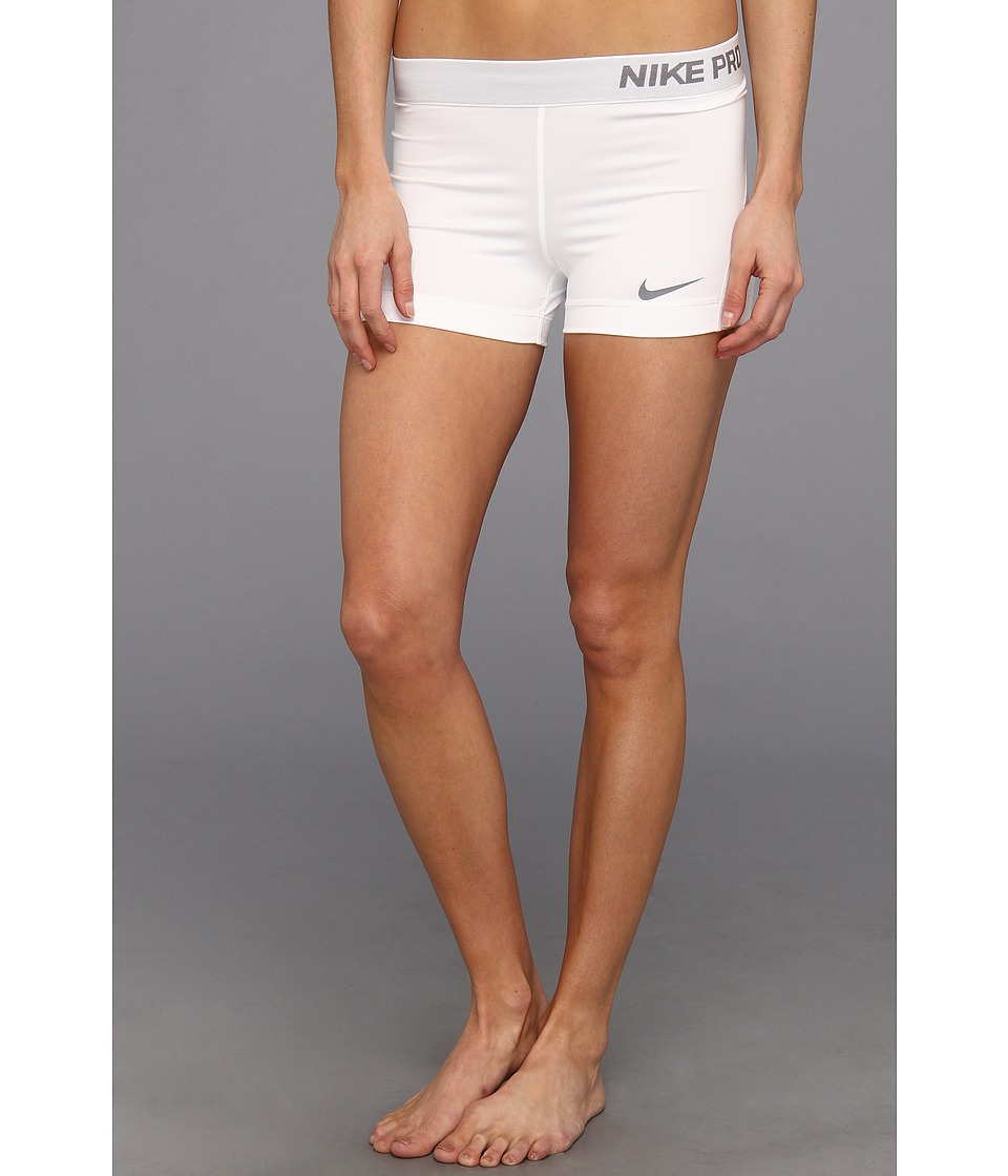 Nike - Pro Three-Inch Short (White/Cool Grey) Women's Shorts