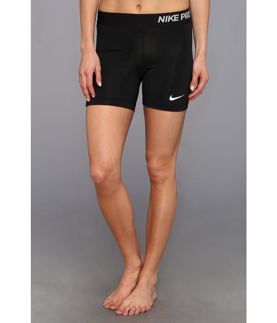 Nike - Pro Five-Inch Short (Black/White) Women's Shorts