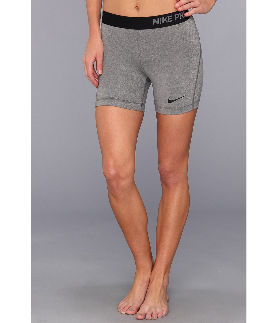 Nike - Pro Five-Inch Short (Carbon Heather/Black) Women's Shorts