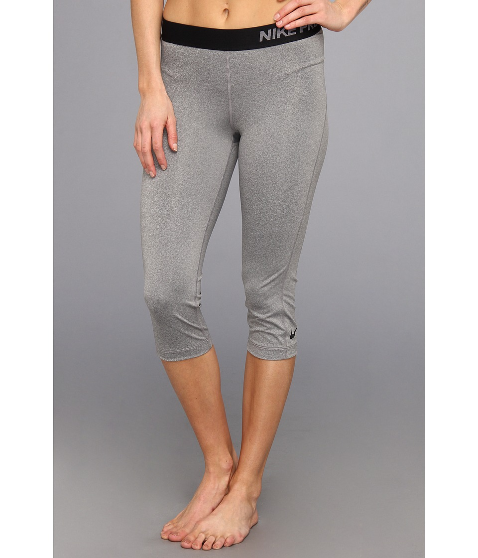 Nike - Pro Capri (Carbon Heather/Black) Women's Capri