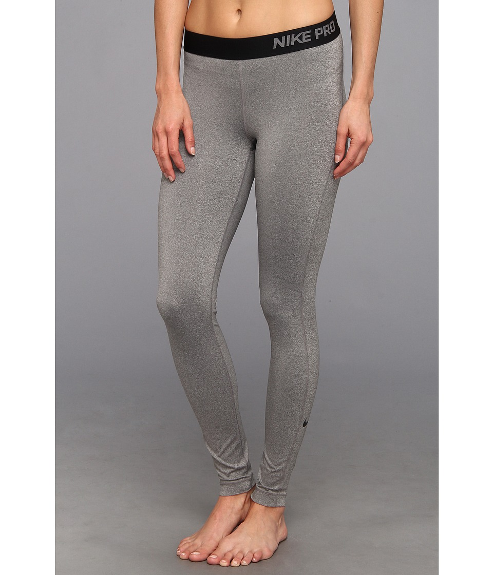 Nike - Pro Tight (Carbon Heather/Black) Women's Workout
