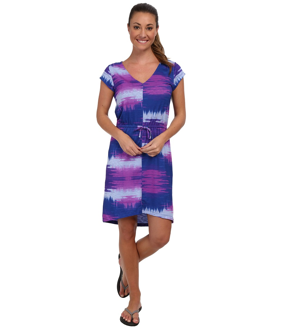 The North Face - Lisa Dress (Lavendula Purple Paint Brush Print) Women