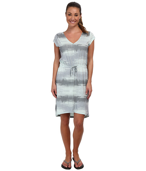 The North Face - Lisa Dress (High Rise Grey Paint Brush Print) Women