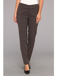 SALE! $34.99 - Save $54 on Nine West Mini Plaid Pant (Bordeaux Multi) Apparel - 60.69% OFF $89.00