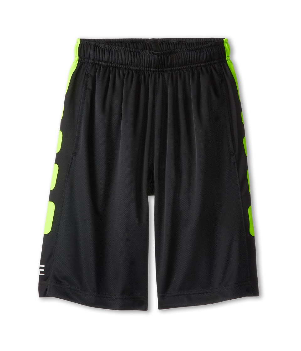 Nike Kids - Elite Stripe Short (Little Kids/Big Kids) (Black/Volt/Volt) Boy's Workout