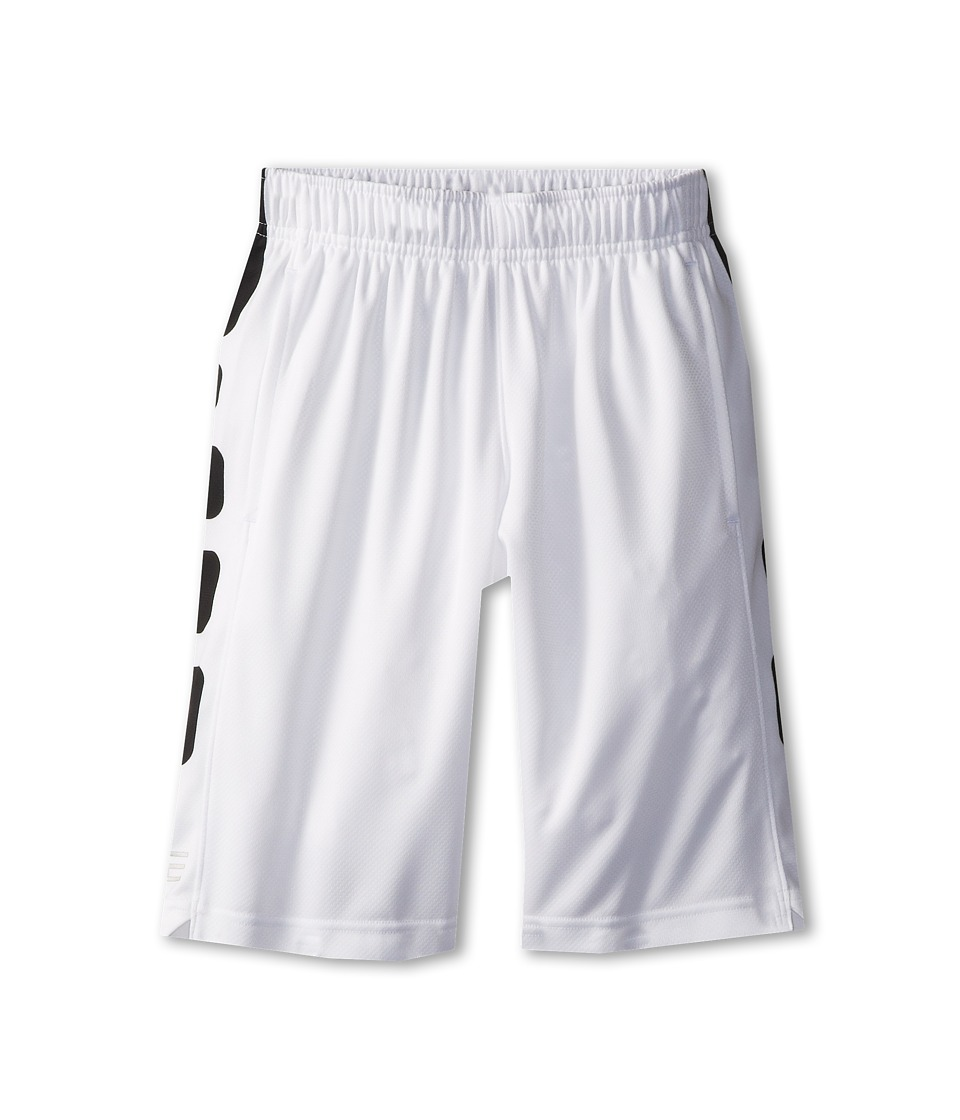 Nike Kids - Elite Stripe Short (Little Kids/Big Kids) (White/Black/Black) Boy's Workout