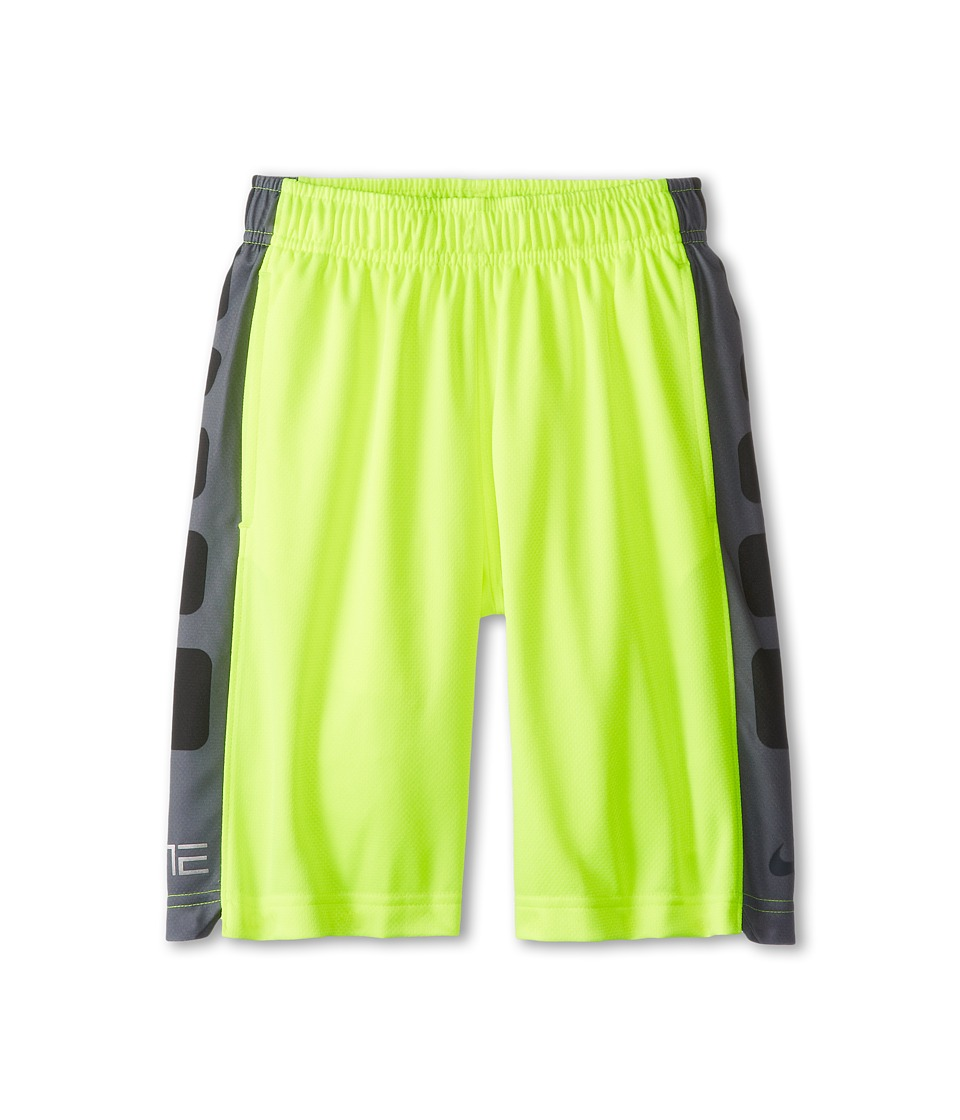 Nike Kids - Elite Stripe Short (Little Kids/Big Kids) (Volt/Anthracite/Cool Grey/Anthracite) Boy's Workout