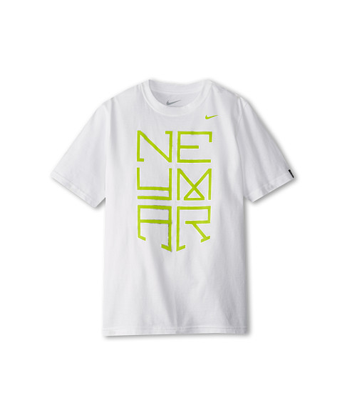 Nike Kids - Neymar 2 Take Down Tee (Little Kids/Big Kids) (White/White) Boy's T Shirt