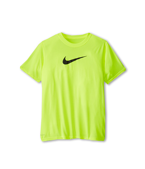 Nike Kids - Essentials Legend S/S Top (Little Kids/Big Kids) (Volt/Anthracite) Boy's Workout