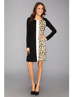 SALE! $54.99 - Save $53 on Karen Kane Tri Panel A Line Dress (Multi) Apparel - 49.08% OFF $108.00