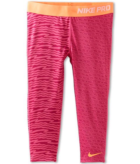 Nike Kids - Pro GFX Capri (Little Kids/Big Kids) (Vivid Pink/Atomic Orange/Atomic Orange) Girl