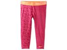 Nike Kids Pro GFX Capri (Little Kids/Big Kids) (Vivid Pink/Atomic Orange/Atomic Orange)