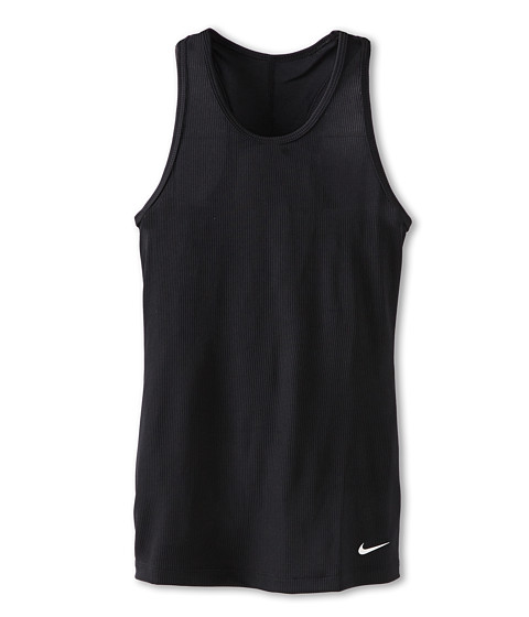 Nike Kids - YA Sculpt Tank (Little Kids/Big Kids) (Black/White) Girl