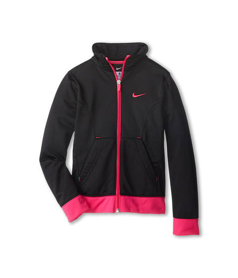 Nike Kids - Performance Knit Jacket (Little Kids/Big Kids) (Black/Vivid Pink/Vivid Pink) Girl