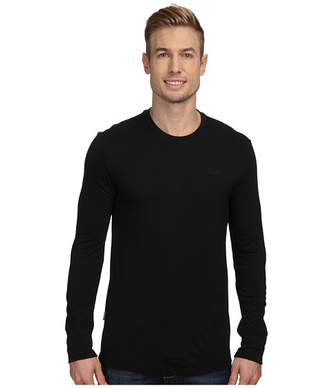 Icebreaker - Drifter Long Sleeve Crewe (Black) Men's Long Sleeve Pullover