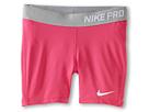 Nike Kids Pro Short (Little Kids/Big Kids) (Vivid Pink/Base Grey/White)