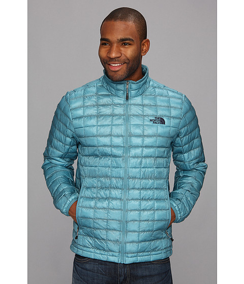 The North Face - ThermoBall Full Zip Jacket (Storm Blue) Men