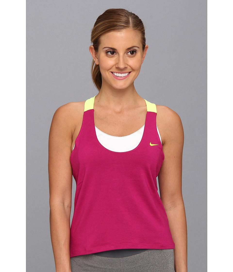 Nike - Elastika Tank 2.0 (Bright Magenta/Volt/Volt) Women's Sleeveless