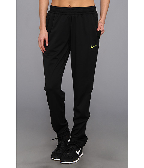 Nike - Soccer Knit Pant (Black/Volt) Women's Workout