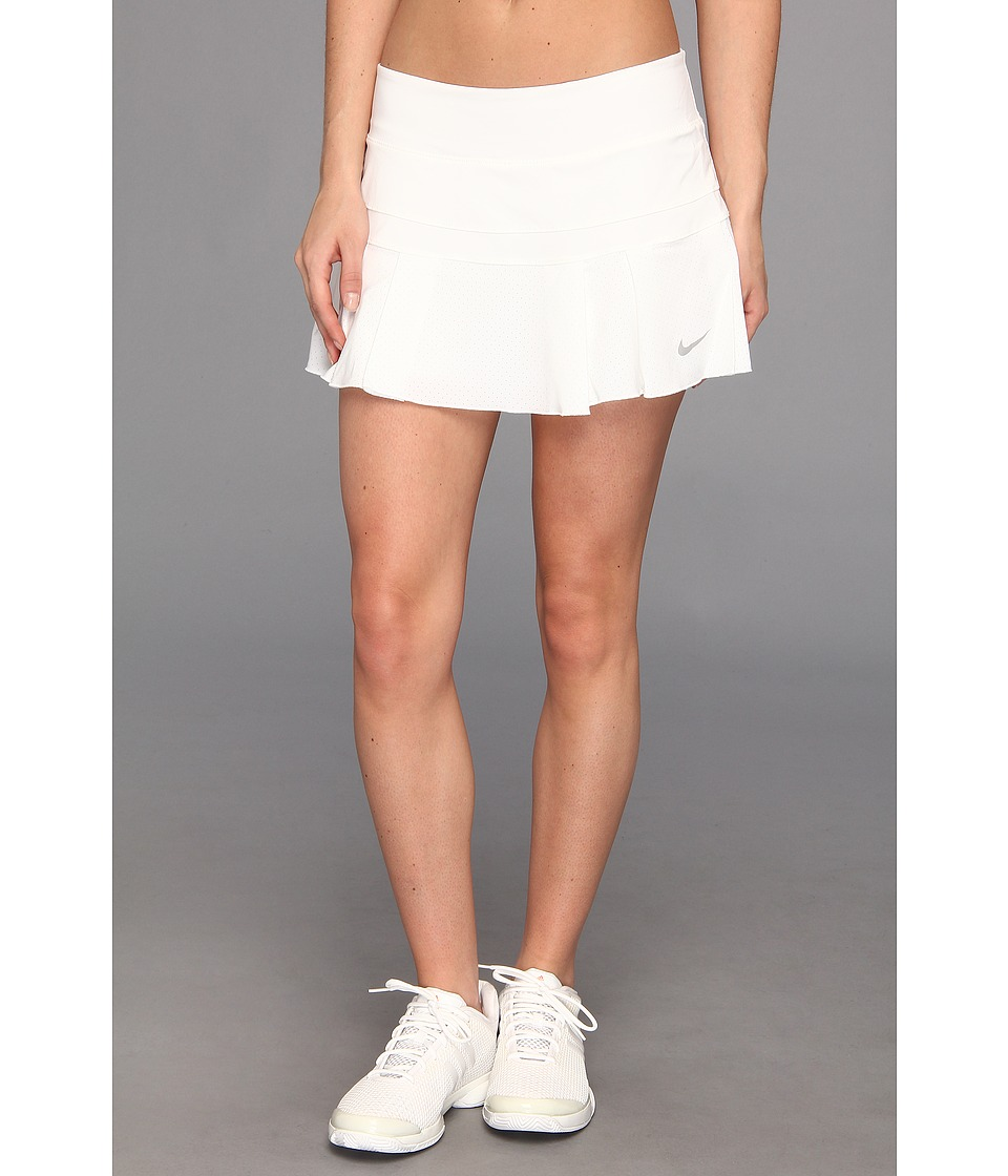 Nike - Pleated Woven Skort (White/Matte Silver) Women's Skort
