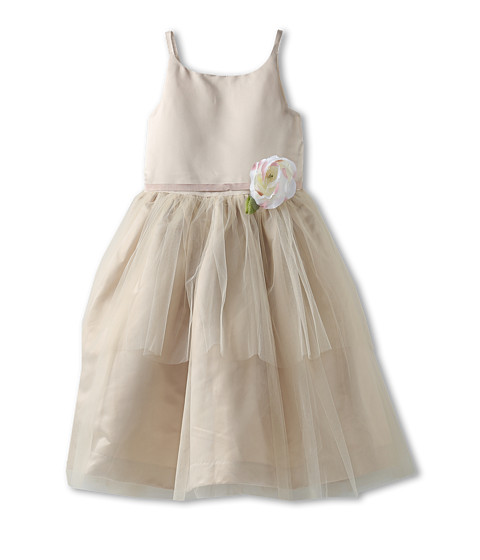 Us Angels - Ballerina Dress (Little Kids) (Champagne) Girl's Dress