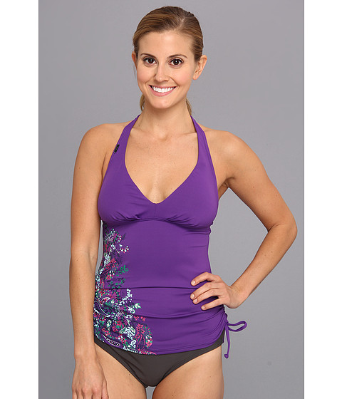 Lole - Jamaica Tankini Top (Island Purple Paisley Print) Women's Swimwear