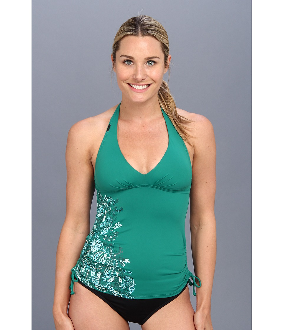 Lole - Jamaica Tankini Top (Glade Green Paisley Print) Women's Swimwear