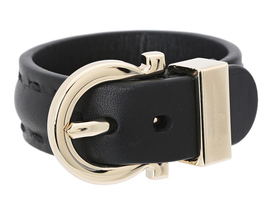 Salvatore Ferragamo - 3539 BR Gancio 25 (Nero/Oro) Bracelet