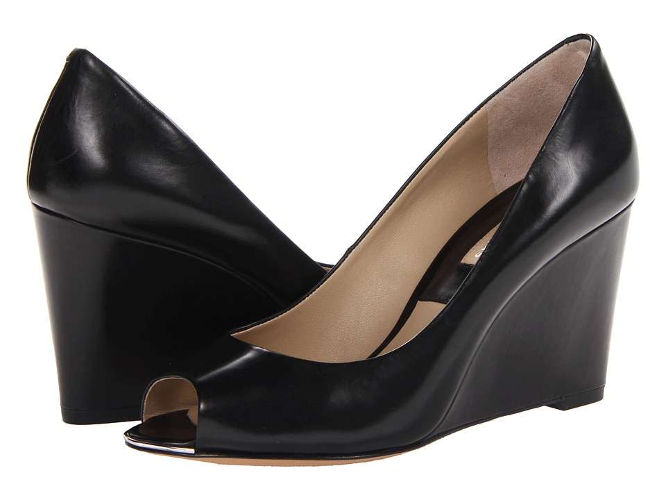 Michael Kors - Valari (Black Palladium Smooth Calf) Women's Wedge Shoes