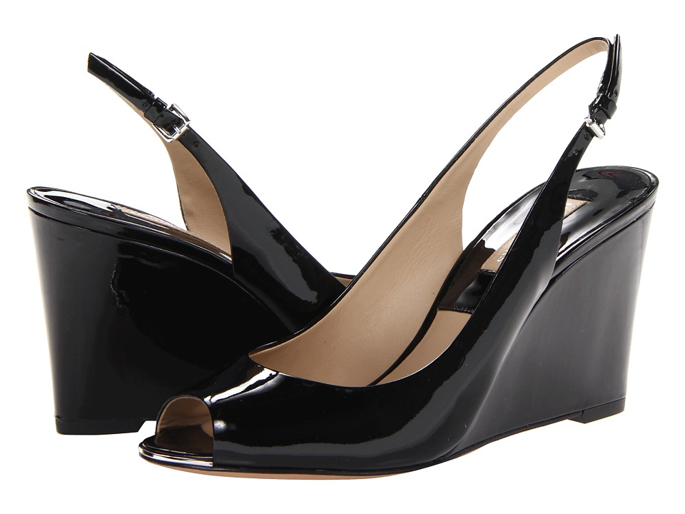 Michael Kors - Vikki (Black Palladium Patent) Women's Wedge Shoes