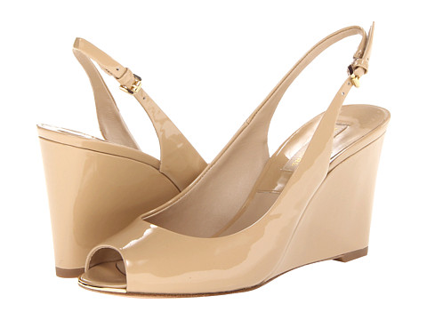 Michael Kors - Vikki (Dark Nude 18K Patent) Women's Wedge Shoes