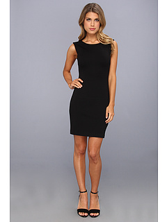 SALE! $71.99 - Save $56 on Juicy Couture Solid Ponte Dress (Pitch Black) Apparel - 43.76% OFF $128.00