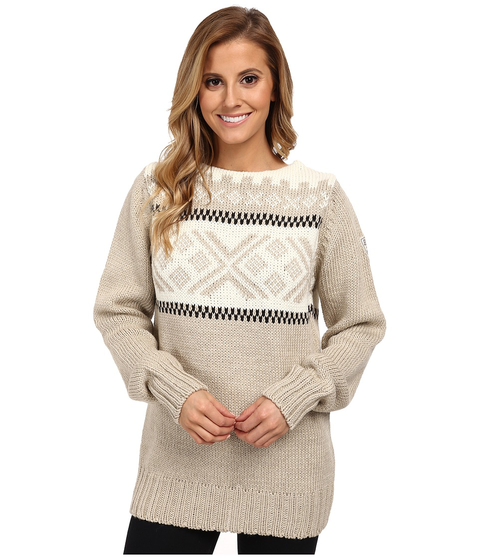 Dale of Norway - Voss Feminine (Warm Taupe/Off White/Black) Women's Sweater
