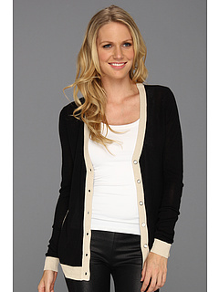 SALE! $34.99 - Save $48 on LAmade Cardi With Contrast Bands (Black Cream) Apparel - 57.84% OFF $83.00