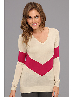 SALE! $36.99 - Save $37 on LAmade V Neck With Contrast V Stripe (Cream Scarlet) Apparel - 50.01% OFF $74.00