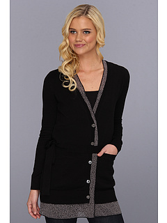 SALE! $36.99 - Save $55 on LAmade Long Cardi With Printed Lining (Black) Apparel - 59.79% OFF $92.00