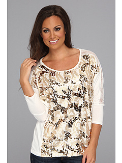 SALE! $16.99 - Save $35 on Rock and Roll Cowgirl Dolman Sleeve Knit (Off White) Apparel - 67.33% OFF $52.00