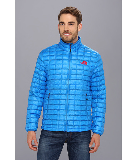 The North Face ThermoBall Full Zip Jacket (Drummer Blue/TNF Red) Men's Coat