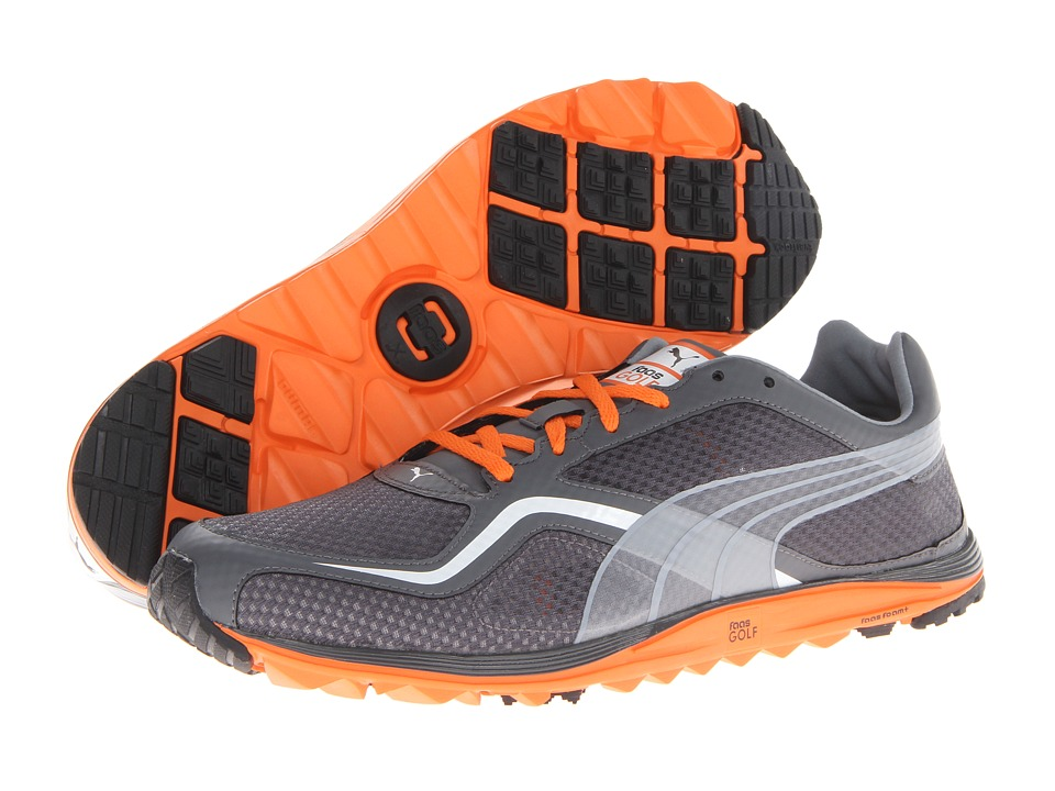 PUMA Golf - FAAS Lite Mesh (Tradewinds/Vibrant Orange/White) Men's Golf Shoes